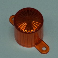Plastic Light Dome (Screw Tab) - Orange