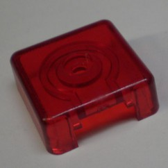 Target face - 3D square tr red