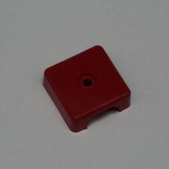 Target face - 3D square op red