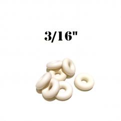 "Premium 3/16"" White  Bumper Post Rings"