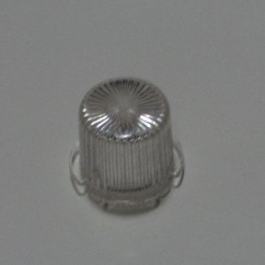 Plastic Light Dome  CLEAR - Twist On