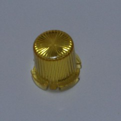 Plastic Light Dome  YELLOW - Twist On