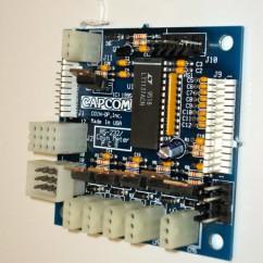 CAPCOM ASSEMBLY PCB PRINTER/METER/T.D.