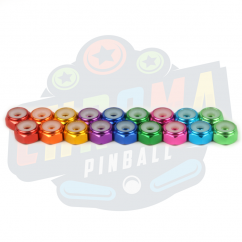 6-32 Color Anodized Lock Nut - Standard - 20 pack  Red