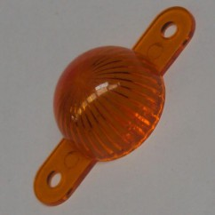 Plastic Starburst Mini Dome with Screw Tabs - ORANGE