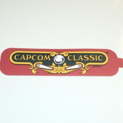 DECAL COIN DOOR CAPCOM CLASSIC