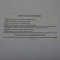 Junkyard card  instruction