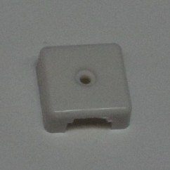 Target face - 3D square op white