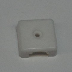 Target face - 3D square trl white