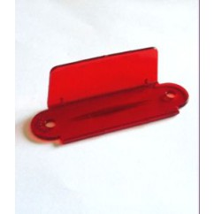 "Lane guide - Single - 2-3/4"" - Transparent Red A-9395"
