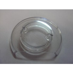 Clear Pop bumper cap with cut off side
