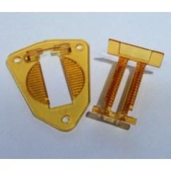 Gottlieb Hole Base Plate and Switch Set - YELLOW