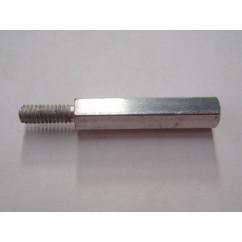 post mf 8-32 x 1.13 zinc 1/4 hex
