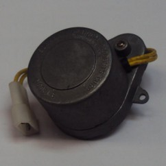 Motor and connector assembly