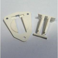 Gottlieb Hole Base Plate and Hole Switch Arm - WHITE