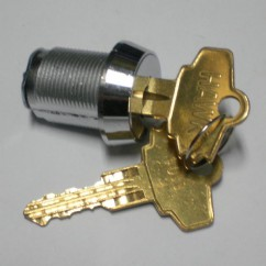 Single door lock, with key, no tongue