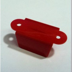 "1-1/2"" hole to hole Double Sided Lane Guide - RED"