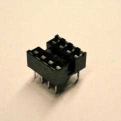 IC Socket - 8 pins