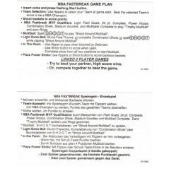 NBA instruction card