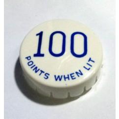 Gottlieb 100 Points When Lit Blue