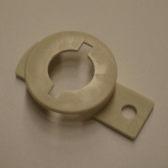 "IDC Snap-On Socket Bracket - 5/16"" white low mount"