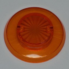 Pop bumper cap starburst orange