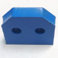 blue rubber bumper