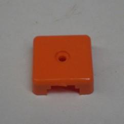 Target face - 3D square - orange