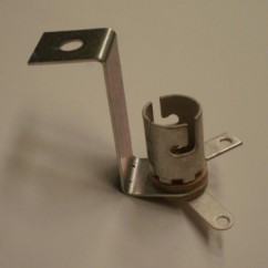 Miniature Bayonet Base 2-Lead Socket With Long Mounting Bracket