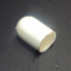 Silicone Bulb Cap condom White