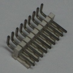 Connector 9h r/a sq pin .156 header