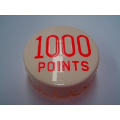 GOTTLIEB POP BUMPER CAP 1000 POINTS RED