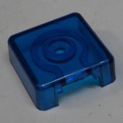 Target face - 3D square blue