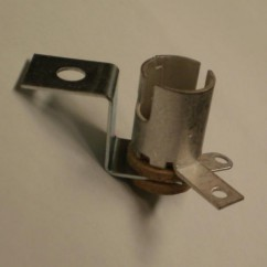 Miniature Bayonet Base 2-Lead Socket With Short Mounting Bracket