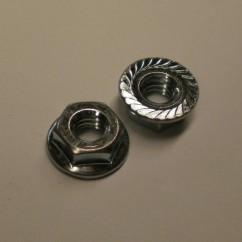 coin door 1/4-20 Whiz Flange Locknut