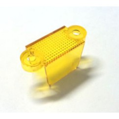 "1-1/4"" Translucent Double Sided Lane Guide - yellow"