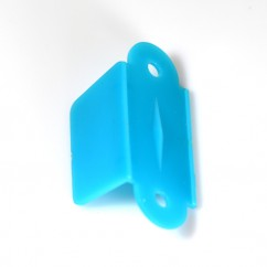 "1 1/2"" 2 hole Rollover guide Single sided -Blue Opaque"