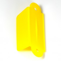2-1/8 Roll Over Guide Single - YELLOW