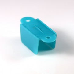 1-1/2 Hole to Hole Opaque Double Sided- Blue