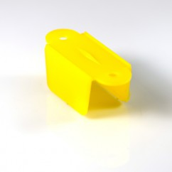 "1-1/2"" hole to hole Double Sided Lane Guide - yellow"