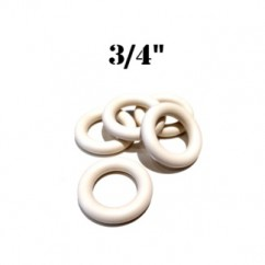 "Premium 3/4"" White Rubber Ring"
