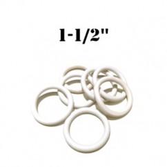 "Premium 1-1/2"" White Rubber Ring"