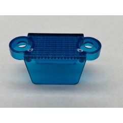 """1-1/4"""" Translucent Double Sided Lane Guide Blue"""
