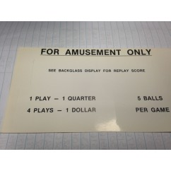 pricing card pinball