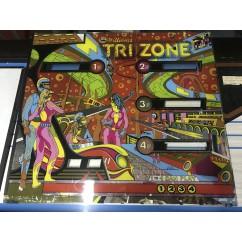 Williams Tri Zone Backglass