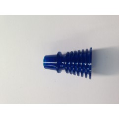 """1-3/16"""" Finned / Ribbed Post - TRANSPARENT BLUE"""
