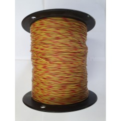 Wire 22 g Yellow and Red