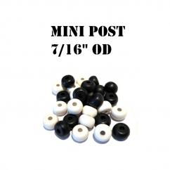 "7/16"" OD Black Mini Post Rubbers Premium"