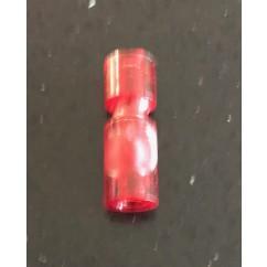 """Narrow Plastic Post 1-1/16"""" Tall Red"""