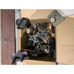 HEAVY BOX of used ARCADE PARTS  used and untested